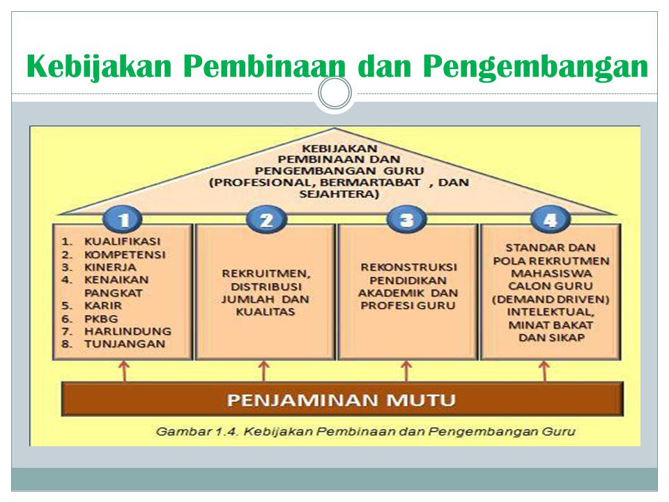 Kebijakan Pembinaan dan Pengembangan