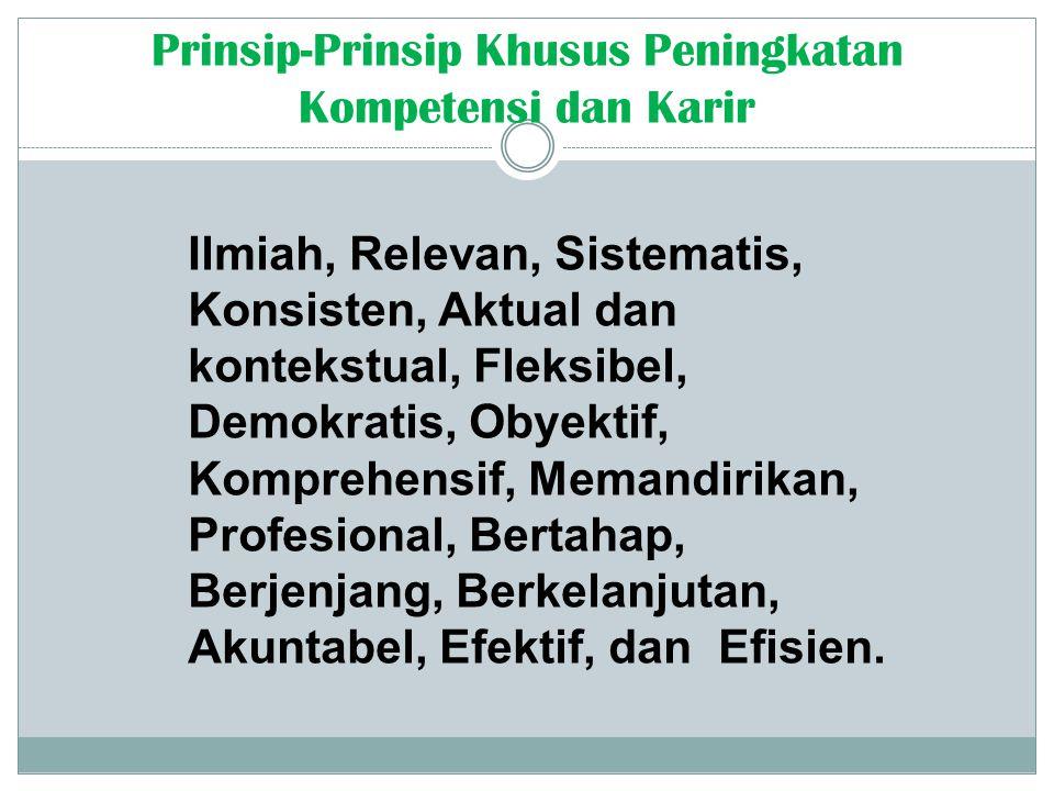 Prinsip-Prinsip Khusus Peningkatan Kompetensi dan Karir