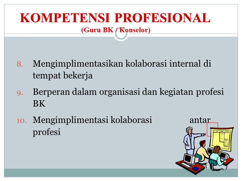 KOMPETENSI PROFESIONAL (Guru BK / Konselor)