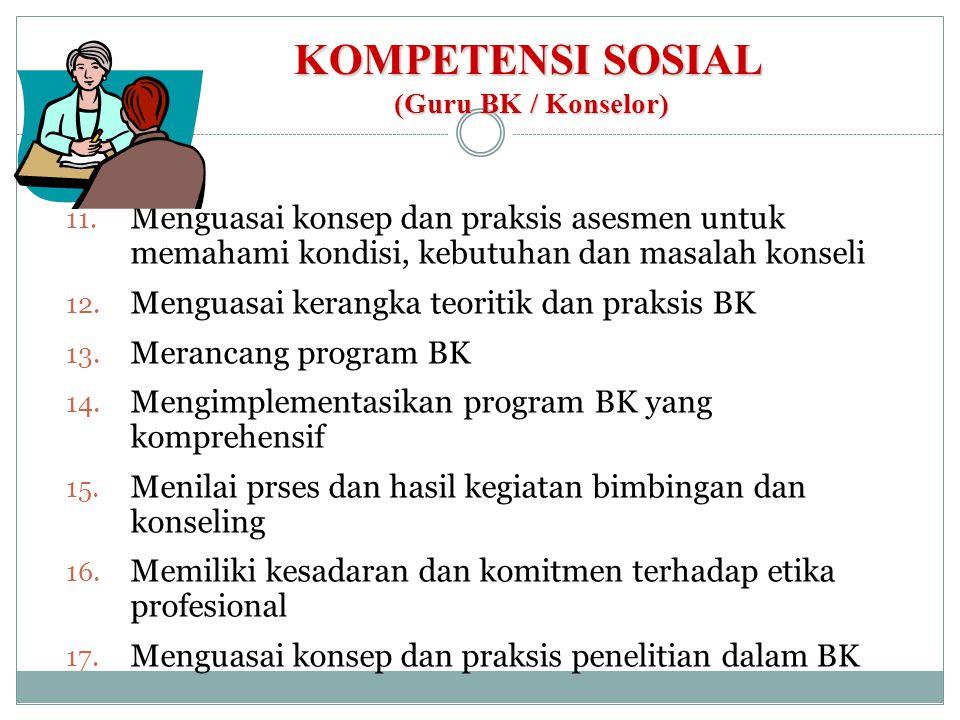 KOMPETENSI SOSIAL (Guru BK / Konselor)