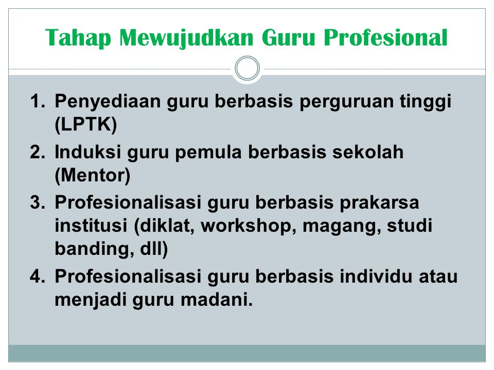 Tahap Mewujudkan Guru Profesional