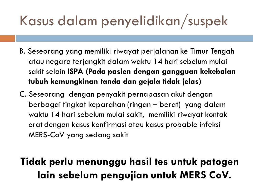 Kasus dalam penyelidikan/suspek