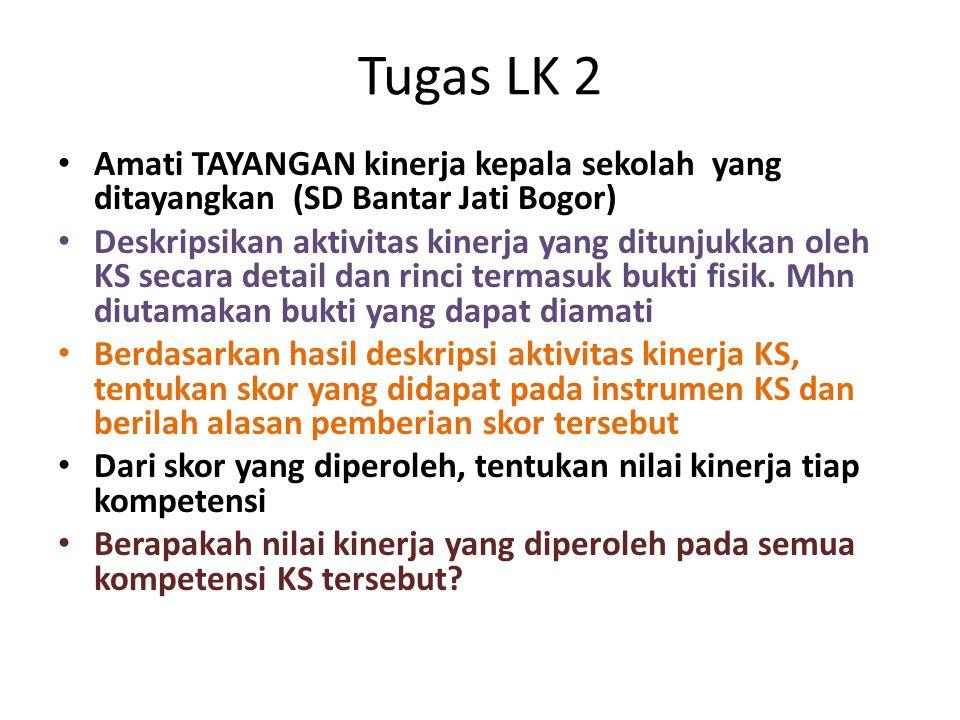 Tugas LK 2 Amati TAYANGAN kinerja kepala sekolah yang ditayangkan (SD Bantar Jati Bogor)
