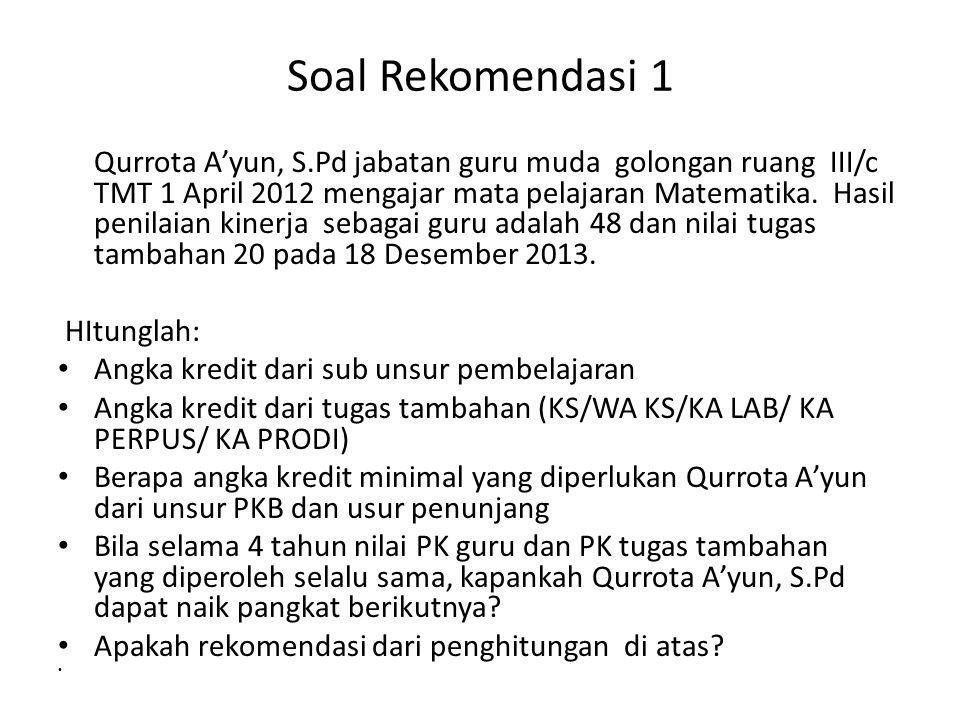 Soal Rekomendasi 1