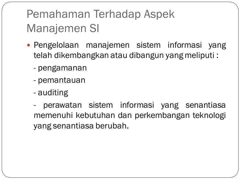 Pemahaman Terhadap Aspek Manajemen SI