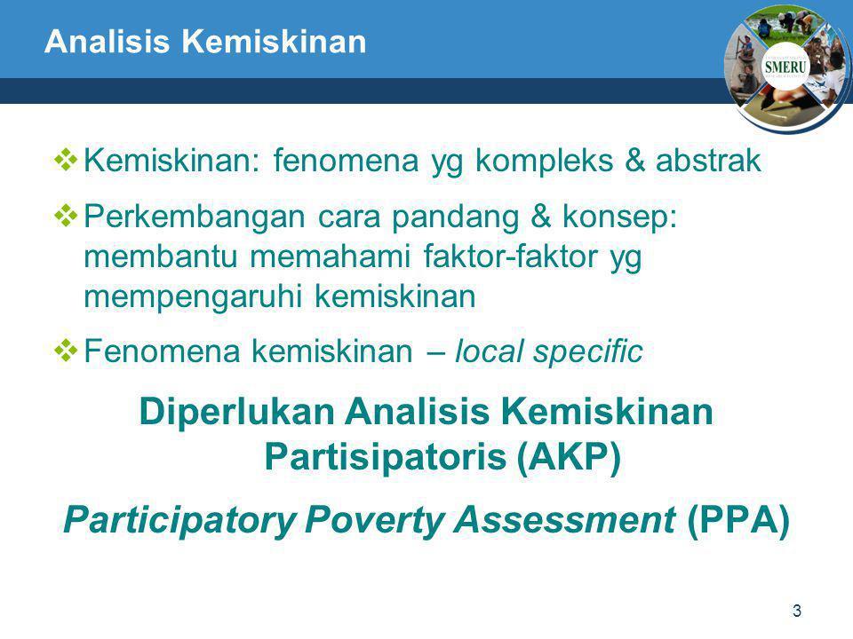 Diperlukan Analisis Kemiskinan Partisipatoris (AKP)