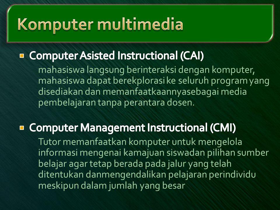 Komputer multimedia Computer Asisted Instructional (CAI)