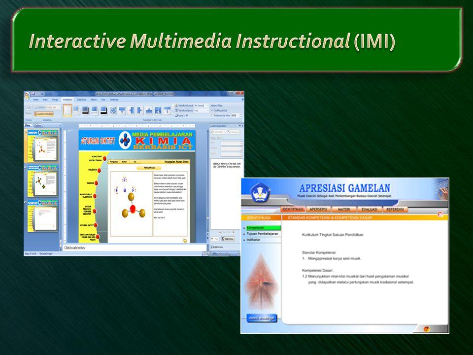Interactive Multimedia Instructional (IMI)