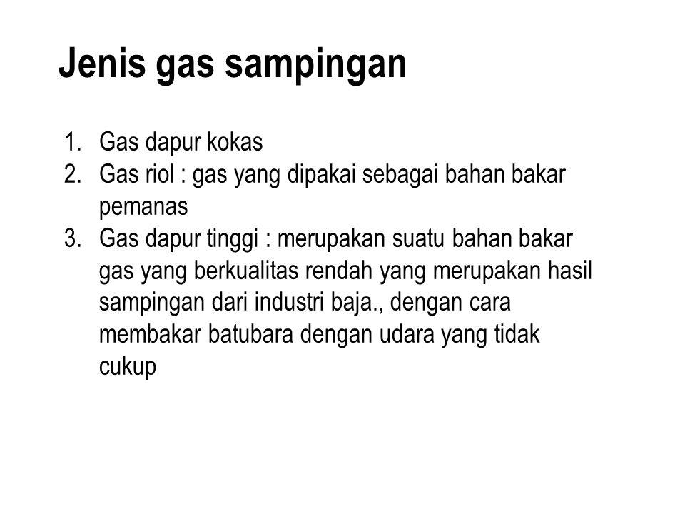 Jenis gas sampingan Gas dapur kokas