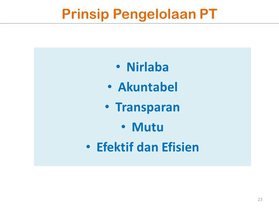 Prinsip Pengelolaan PT