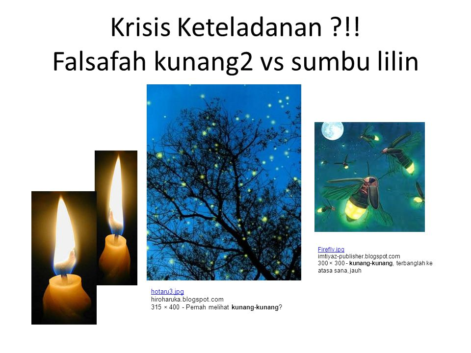 Krisis Keteladanan !! Falsafah kunang2 vs sumbu lilin