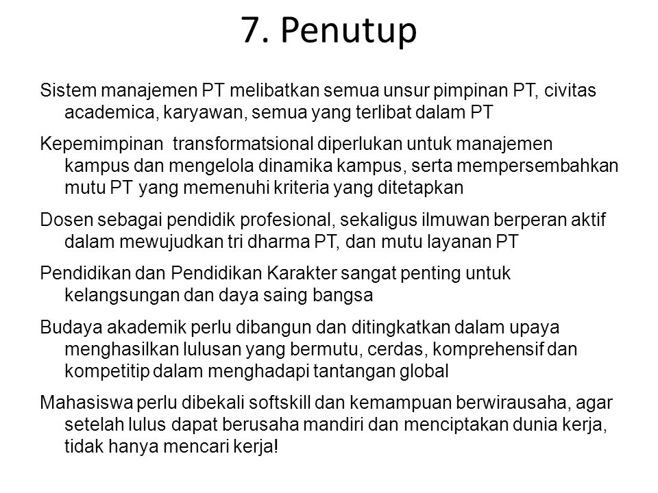 7. Penutup