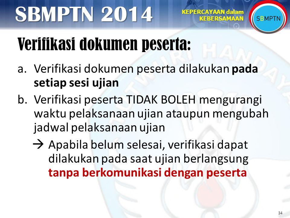 Verifikasi dokumen peserta: