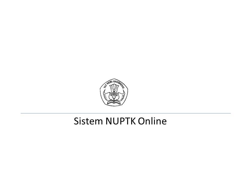Sistem NUPTK Online