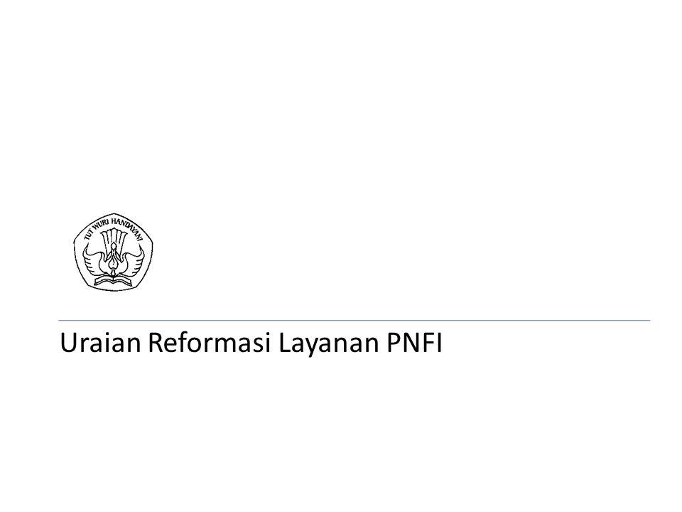 Uraian Reformasi Layanan PNFI
