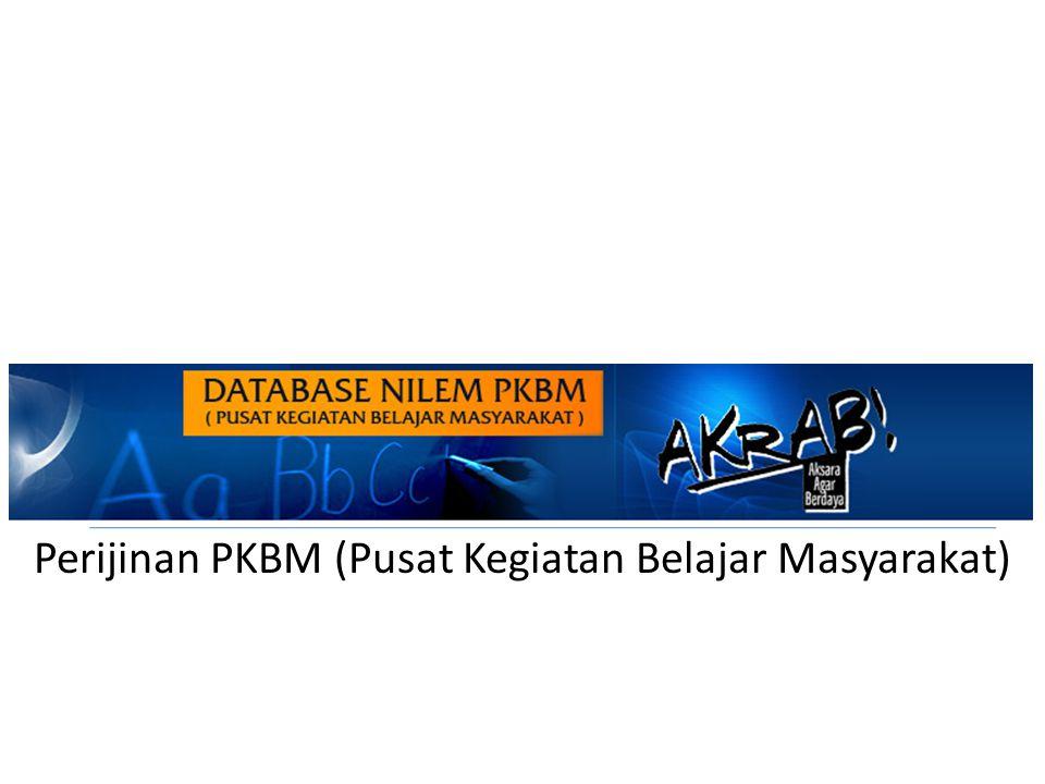 Perijinan PKBM (Pusat Kegiatan Belajar Masyarakat)