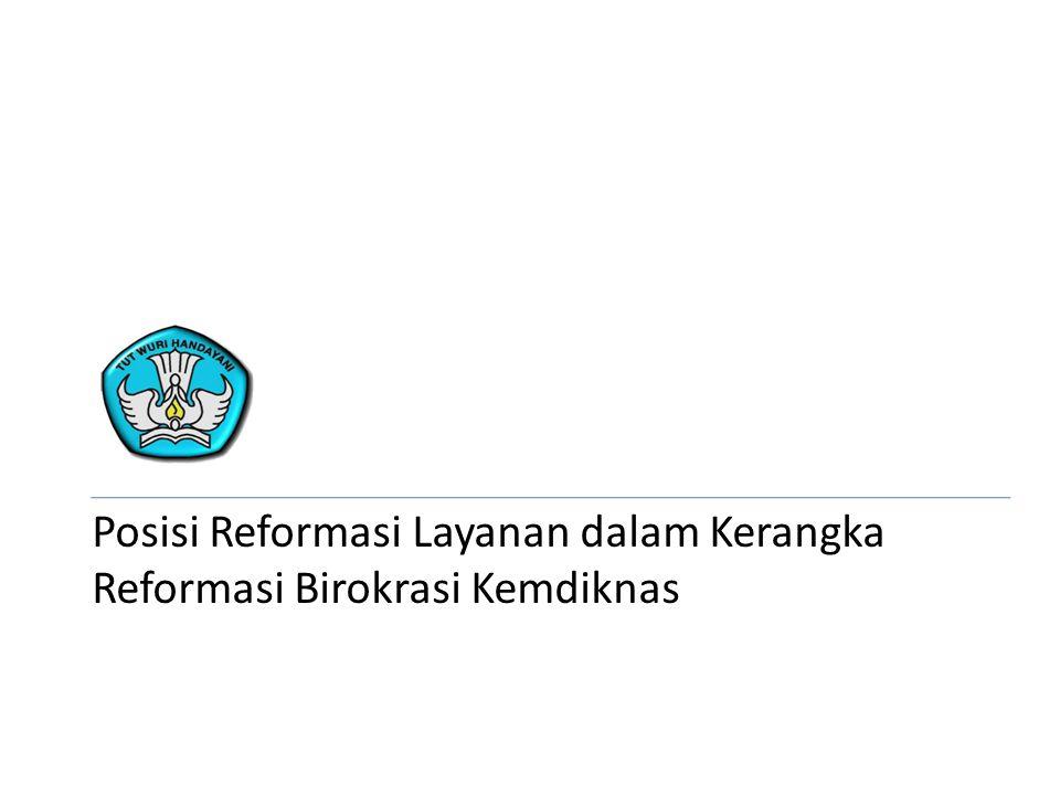 Posisi Reformasi Layanan dalam Kerangka Reformasi Birokrasi Kemdiknas
