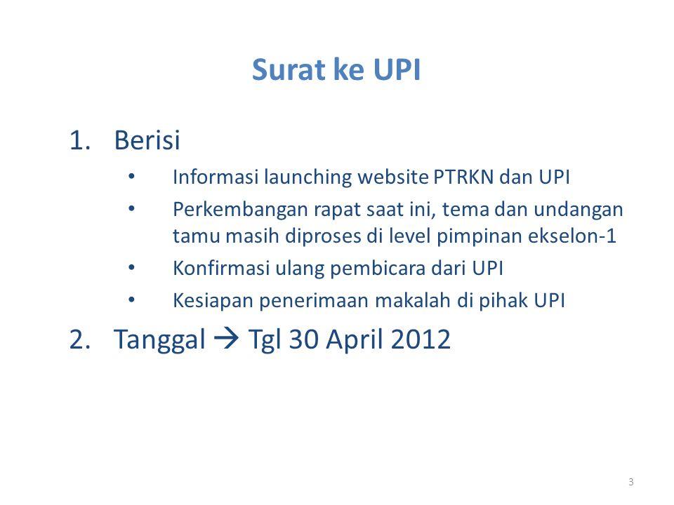 Surat ke UPI Berisi Tanggal  Tgl 30 April 2012
