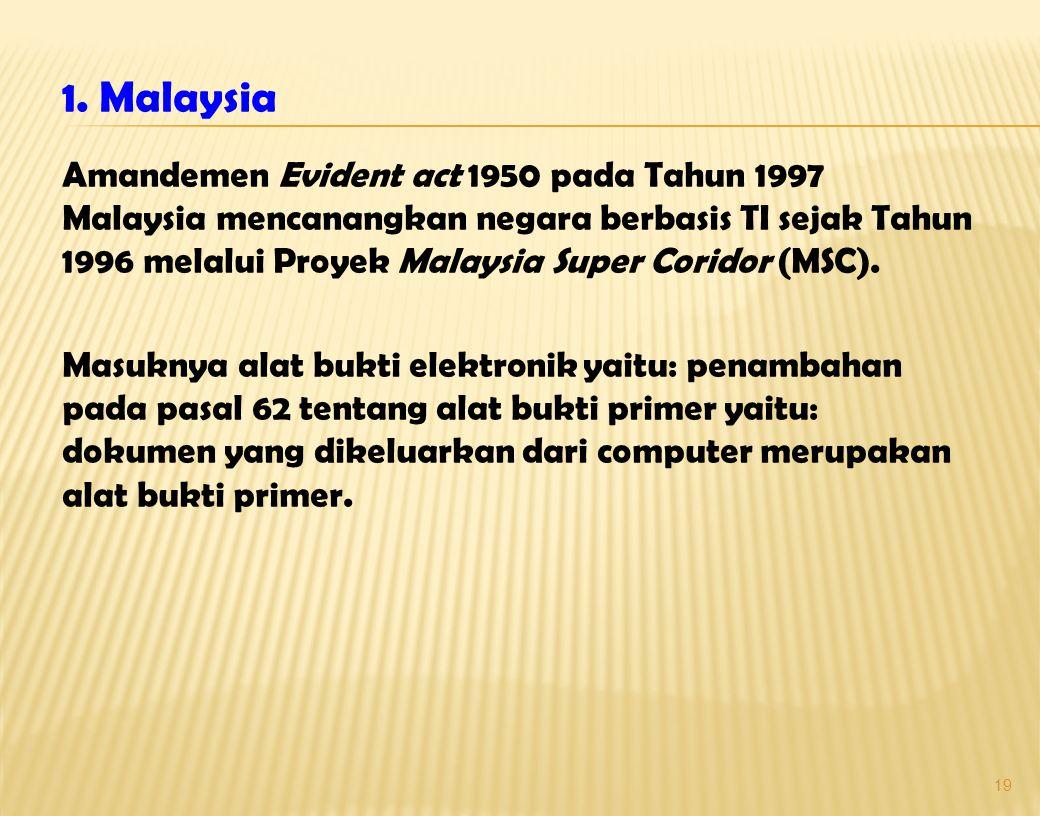 1. Malaysia