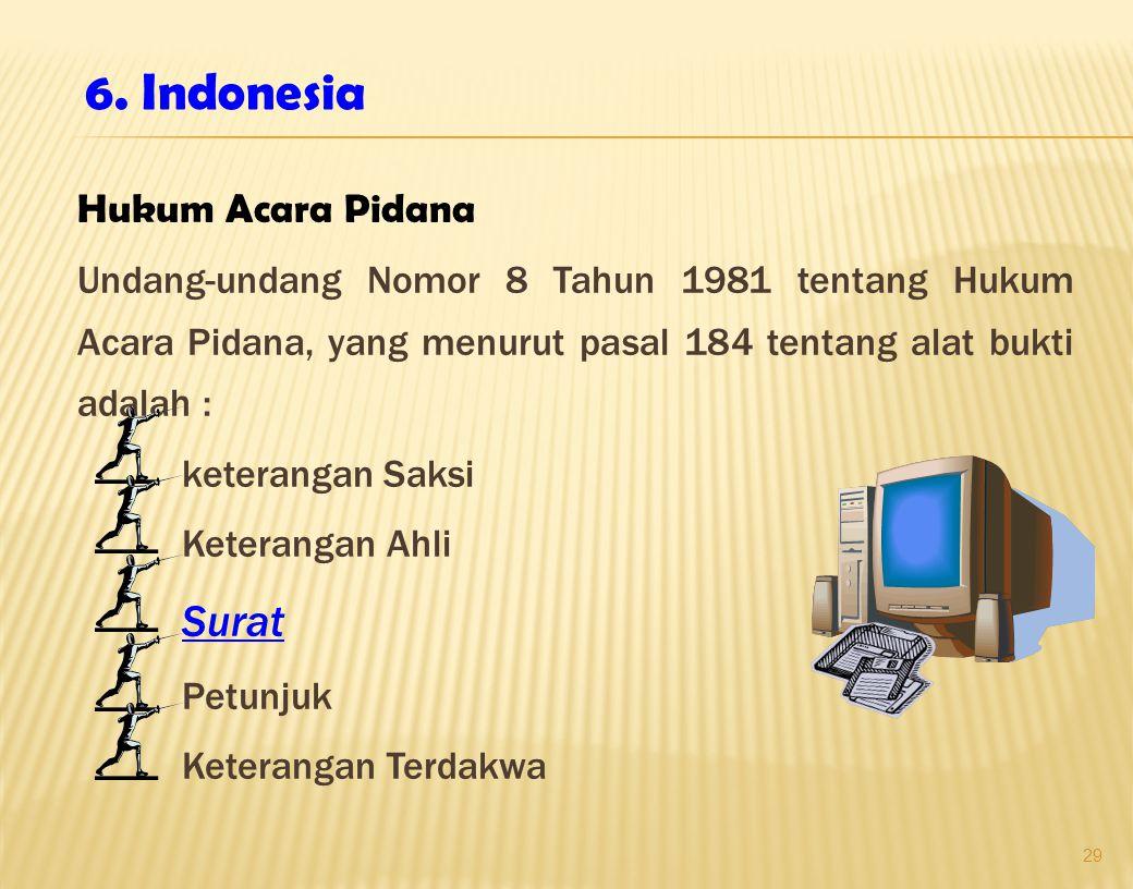 6. Indonesia Hukum Acara Pidana