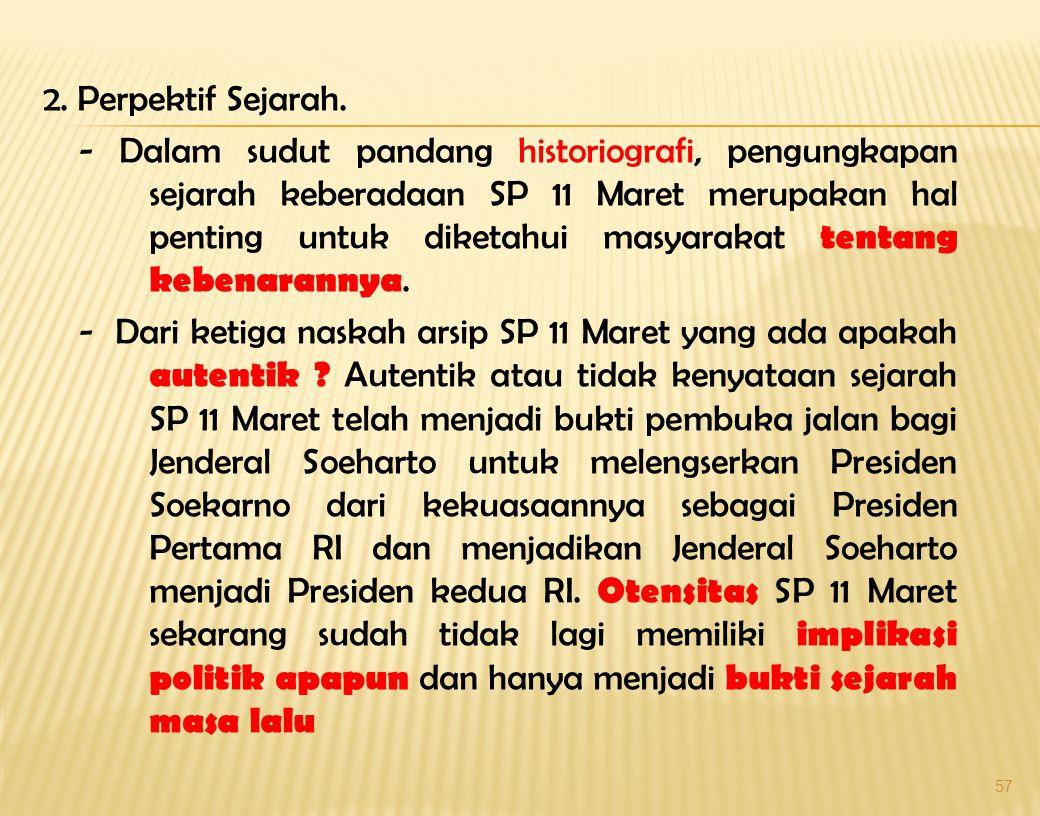 2. Perpektif Sejarah.