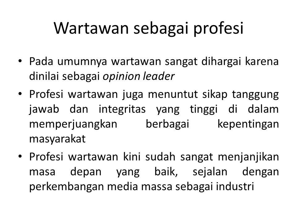 Wartawan sebagai profesi