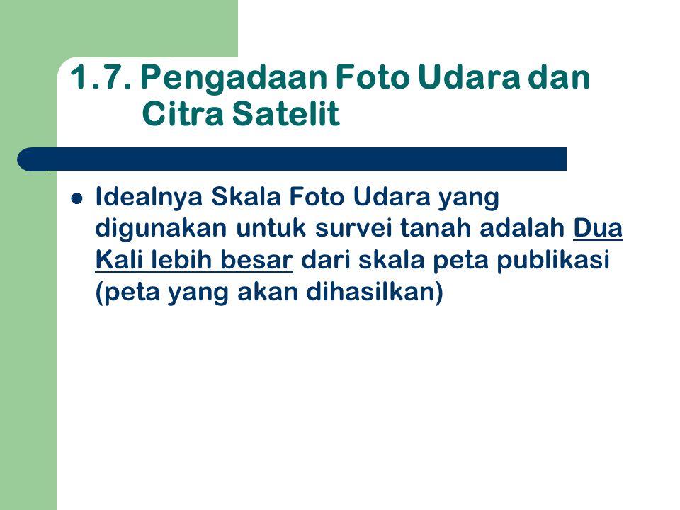 1.7. Pengadaan Foto Udara dan Citra Satelit