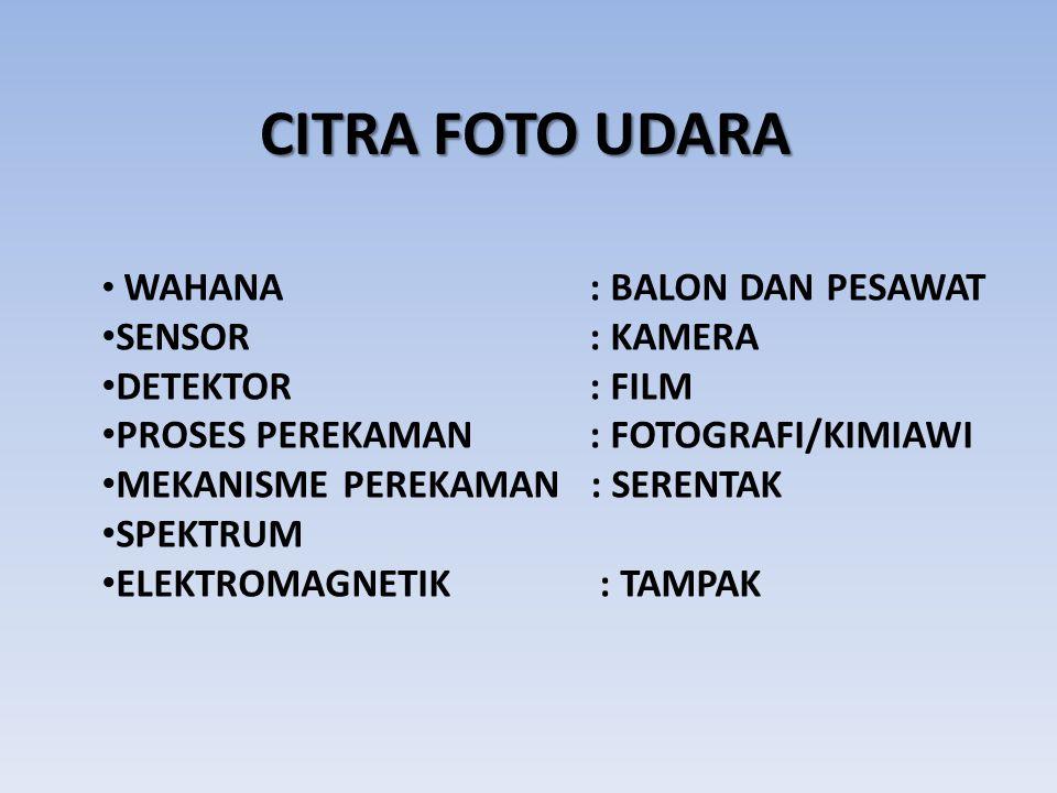 CITRA FOTO UDARA SENSOR : KAMERA DETEKTOR : FILM