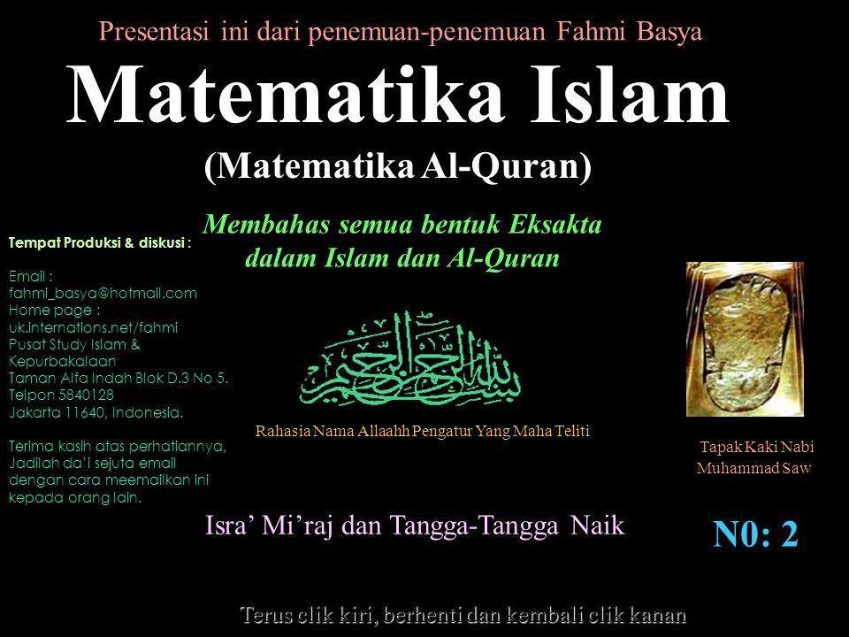 Matematika Islam (Matematika Al-Quran) N0: 2