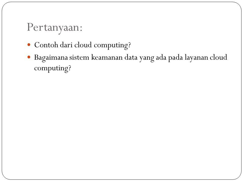 Pertanyaan: Contoh dari cloud computing