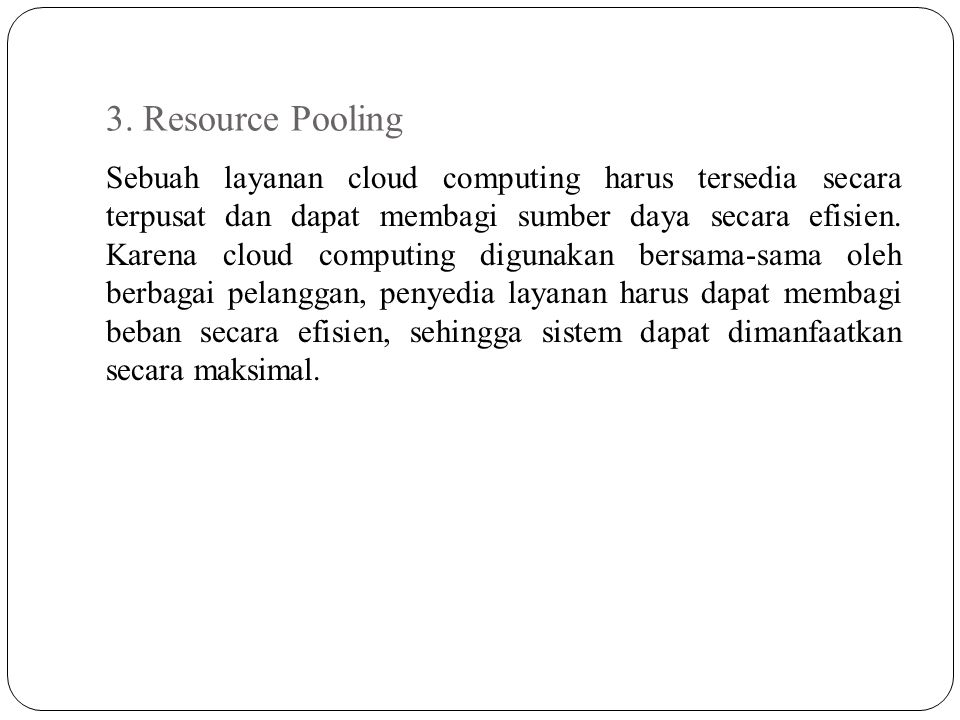 3. Resource Pooling