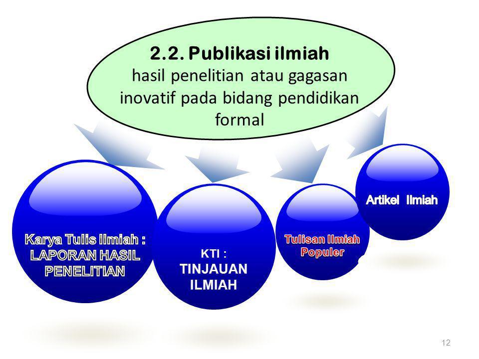 Karya Tulis Ilmiah : LAPORAN HASIL PENELITIAN Tulisan Ilmiah Populer