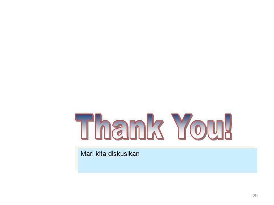 Thank You! Mari kita diskusikan
