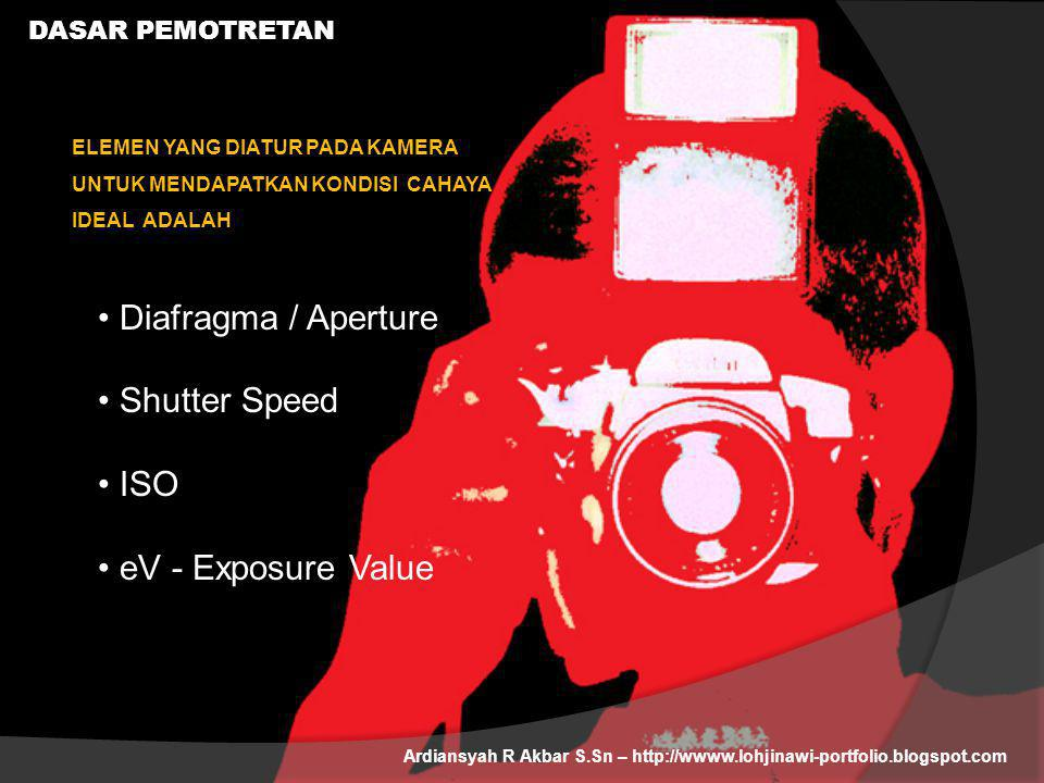 Diafragma / Aperture Shutter Speed ISO eV - Exposure Value