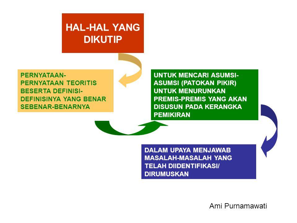 HAL-HAL YANG DIKUTIP Ami Purnamawati