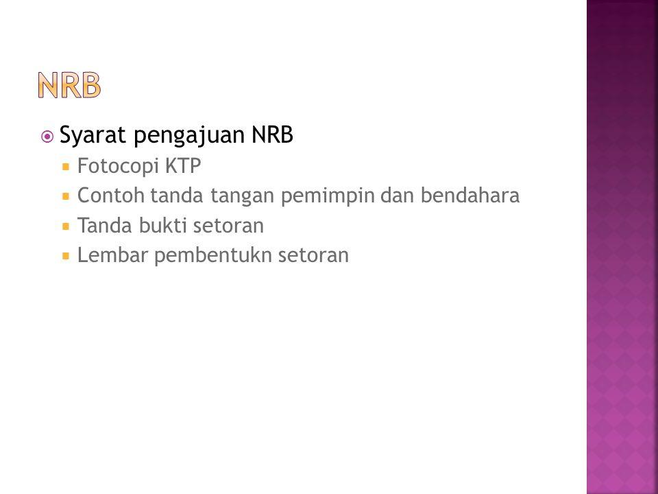 NRB Syarat pengajuan NRB Fotocopi KTP