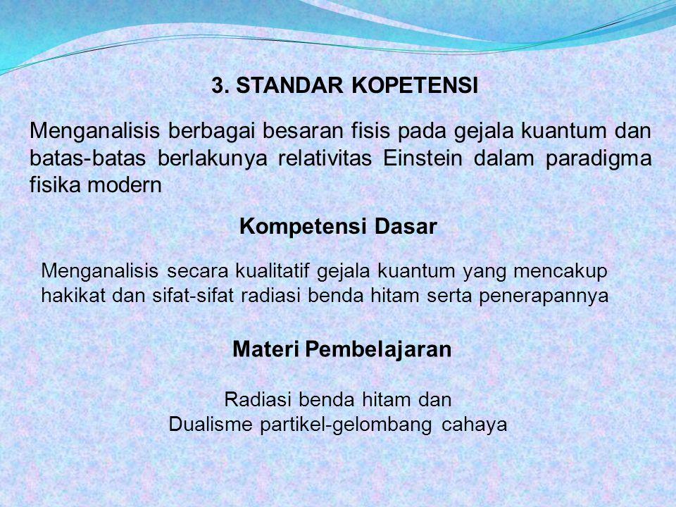 3. STANDAR KOPETENSI Kompetensi Dasar