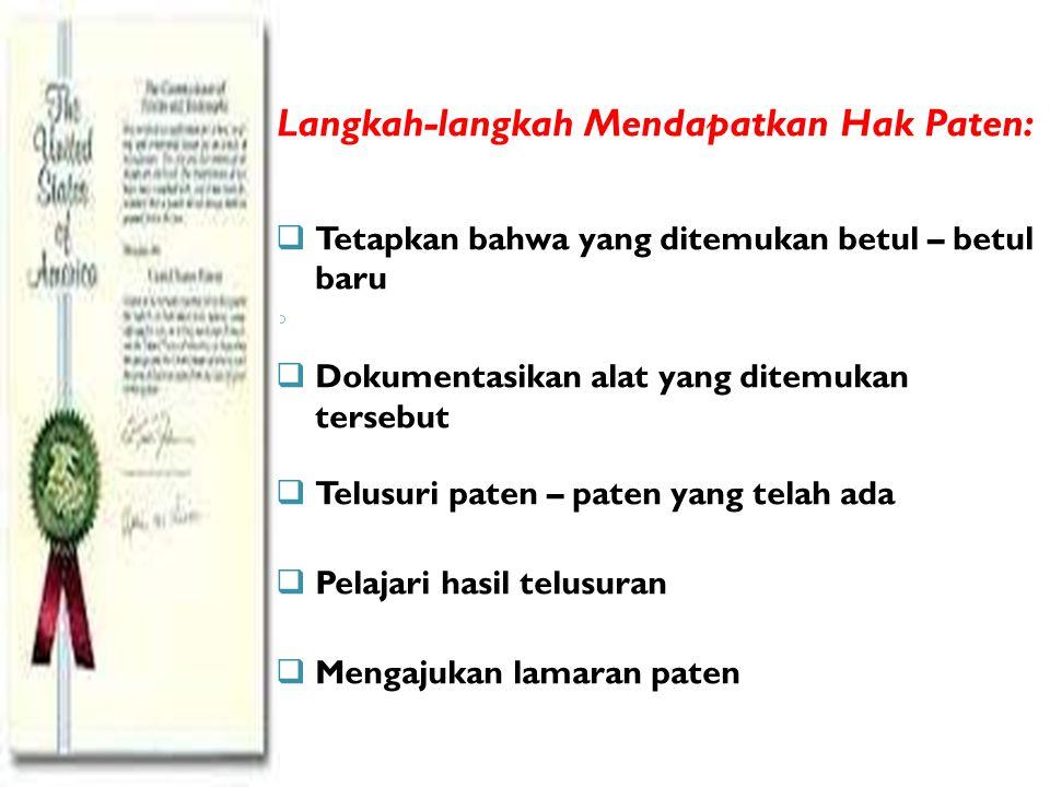 Langkah-langkah Mendapatkan Hak Paten: