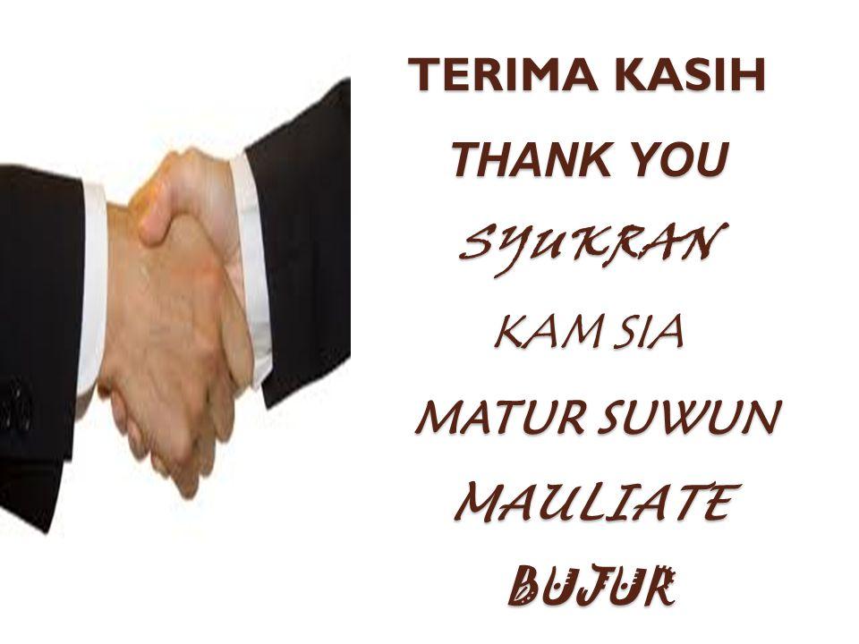 TERIMA KASIH THANK YOU SYUKRAN KAM SIA MATUR SUWUN MAULIATE BUJUR