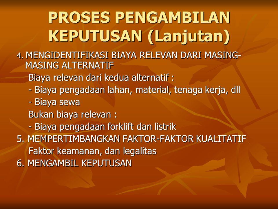 PROSES PENGAMBILAN KEPUTUSAN (Lanjutan)