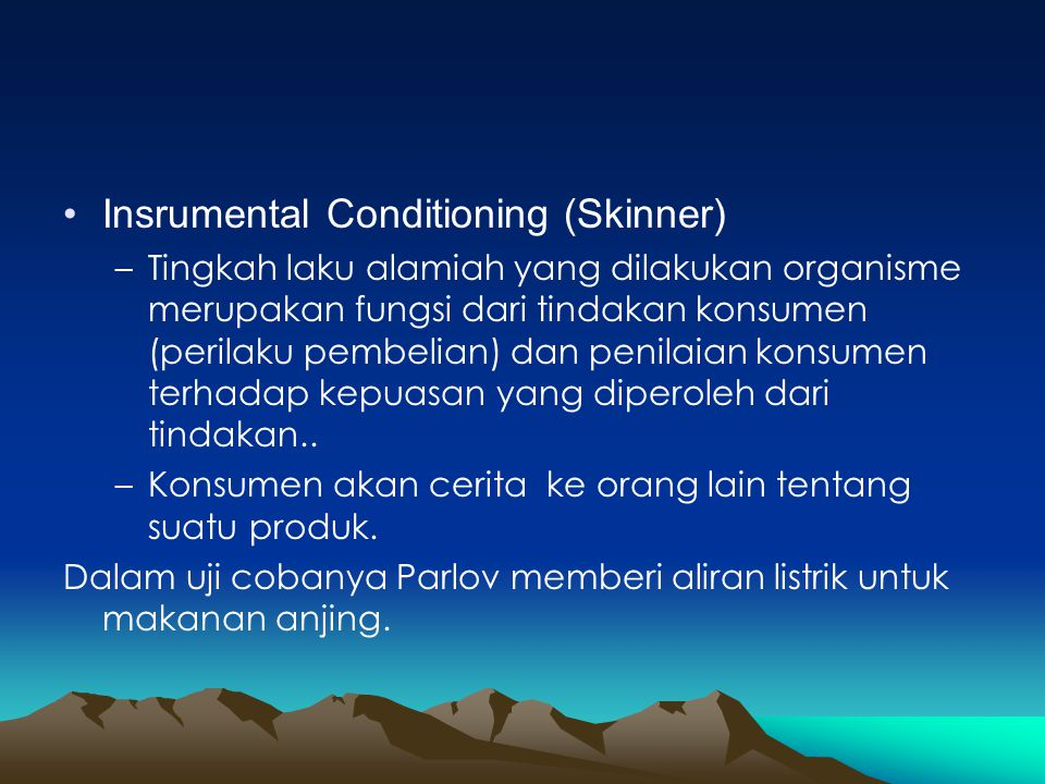 Insrumental Conditioning (Skinner)