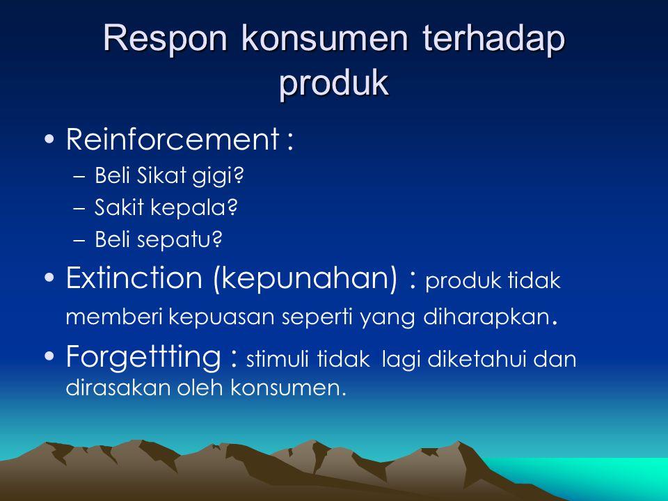 Respon konsumen terhadap produk