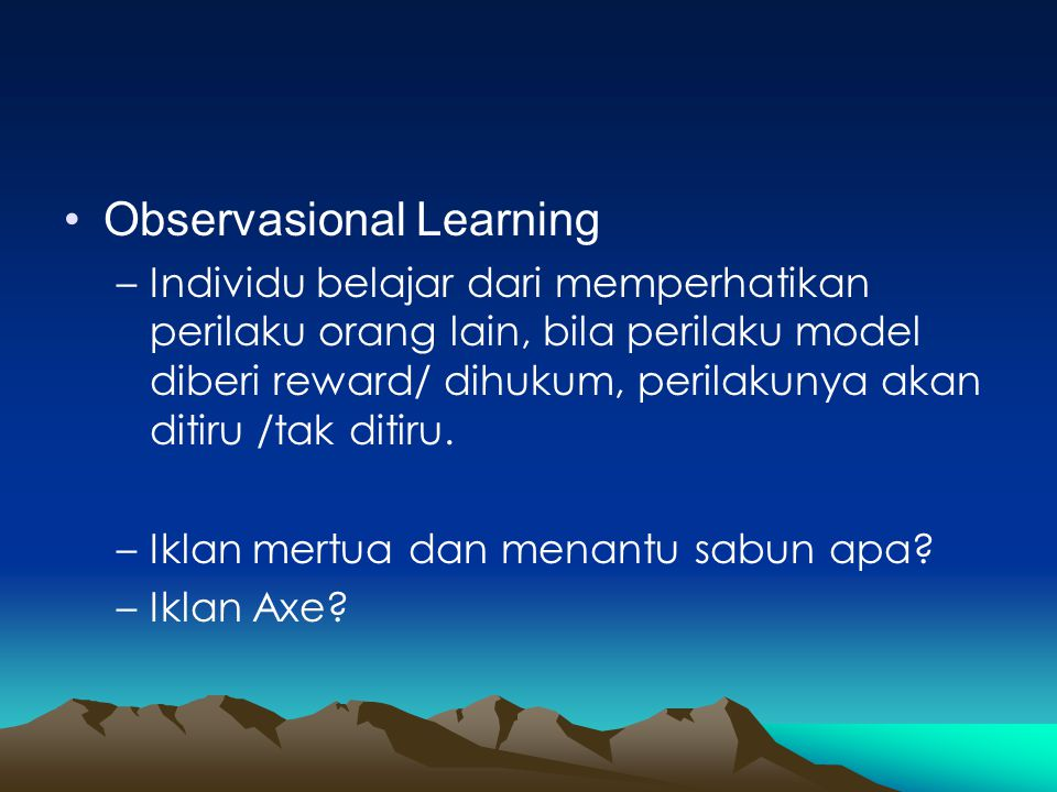 Observasional Learning