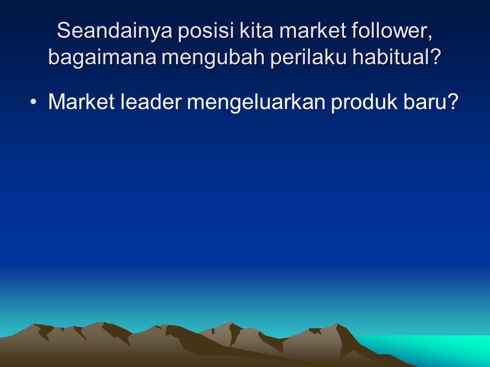 Seandainya posisi kita market follower, bagaimana mengubah perilaku habitual