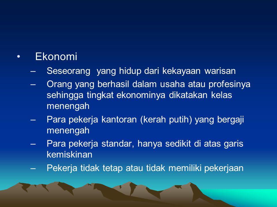 Ekonomi Seseorang yang hidup dari kekayaan warisan