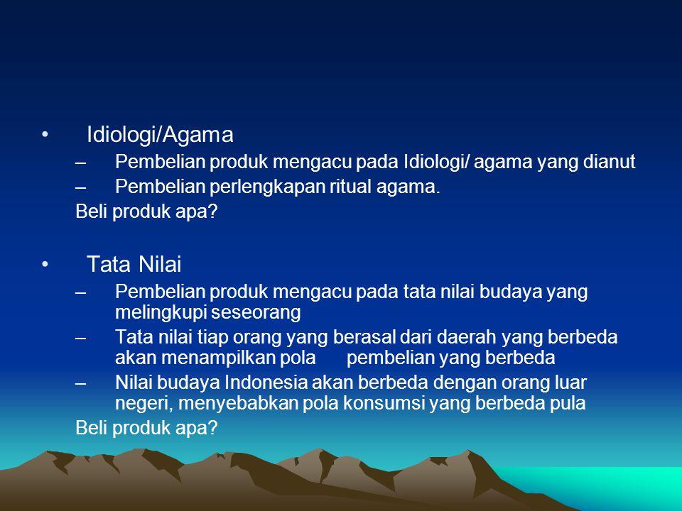 Idiologi/Agama Tata Nilai