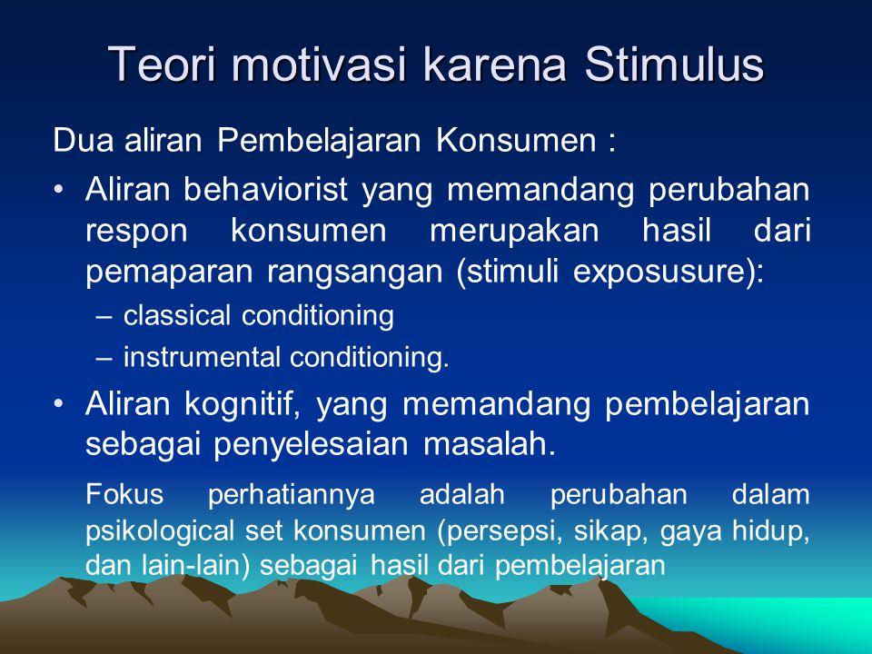 Teori motivasi karena Stimulus