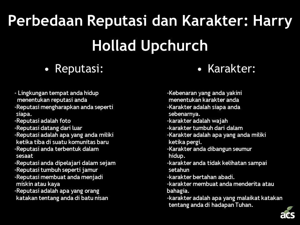 Perbedaan Reputasi dan Karakter: Harry Hollad Upchurch