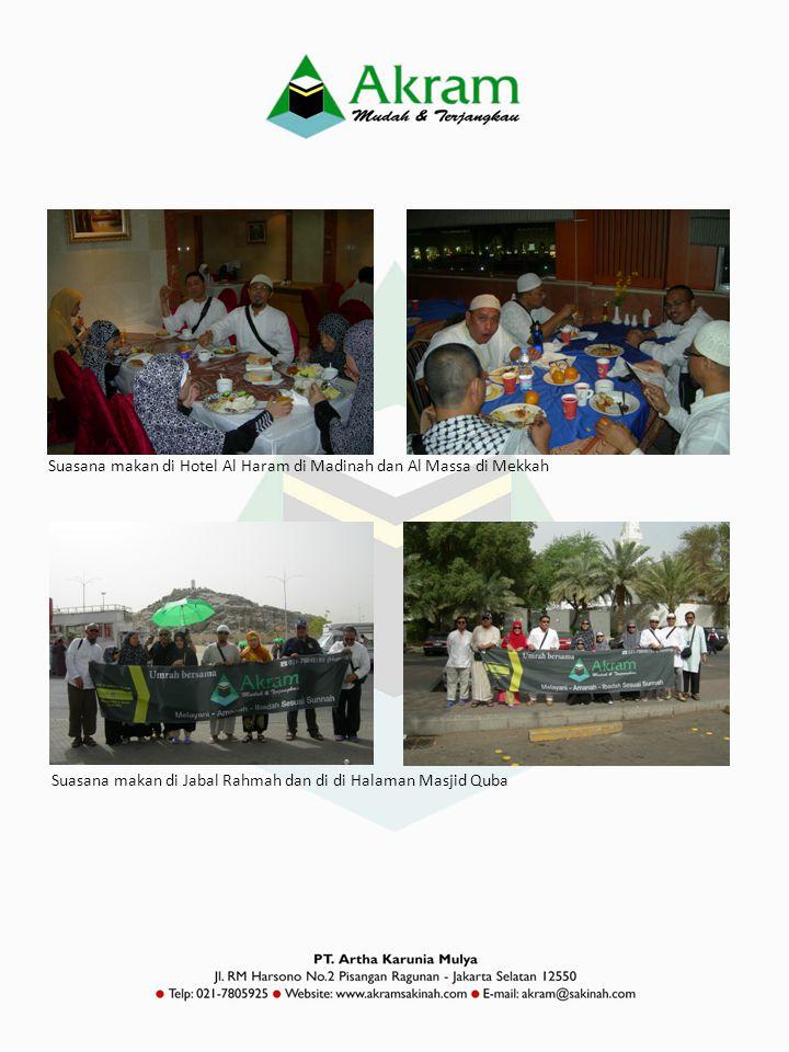 Suasana makan di Hotel Al Haram di Madinah dan Al Massa di Mekkah