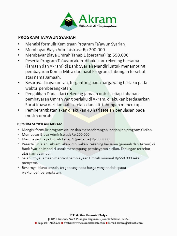 PROGRAM TA'AWUN SYARIAH